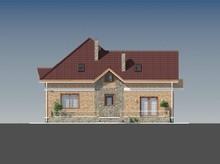 Дом с мансардой с оригинальной формой кровли