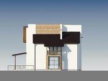 Проект двухэтажного загородного коттеджа с оригинальной крышей