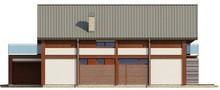Проект коттеджа с просторной террасой над гаражом