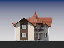 Оригинальный двухэтажный дом с угловым входом