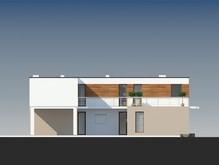 Оригинальный современный дом с просторной террасой