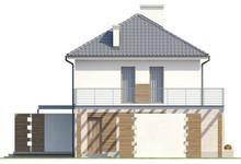 Двухэтажный загородный дом с большой террасой