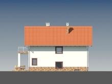 Проект красивого коттеджа для узкого участка с цокольным этажом