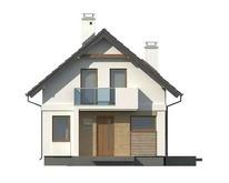 Небольшой дом с мансардой и пристроенным гаражом