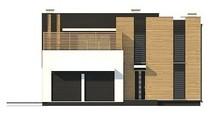 Проект дома хай-тек с двумя кухнями