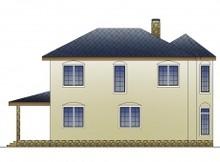 Комфортный коттедж с витражными окнами