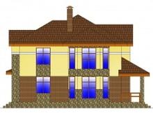 Презентабельный загородный дом с фактурным фасадом