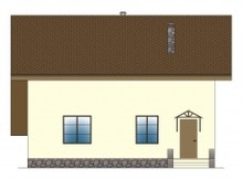 Проект загородного дома с навесом для 2-х авто