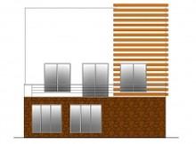 Коттедж в стиле хай-тек с сауной и бассейном в цоколе
