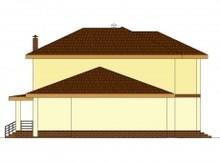 Загородный двухэтажный коттедж с гаражом