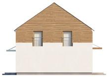 Проект дома с просторной гостиной и кухней студио