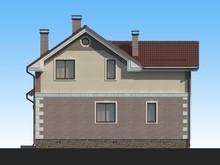 Проект малогабаритного 2х этажного стильного коттеджа 130 m²