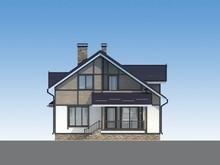 Проект дома с мансардой 10 на 17