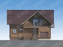 Проект жилого коттеджа площадью 220 m²