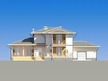 Проект жилого коттеджа 300 m²