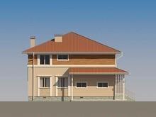 Проект двухэтажного коттеджа квадратной формы