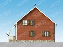 Проект коттеджа 150 m². с красивым необычным фасадом и крышей
