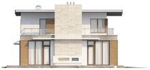 Современный проект двухэтажного особнячка с гаражом