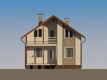Проект загородного жилого яркого коттеджа
