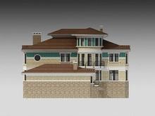 Проект загородного коттеджа с гаражом и бассейном