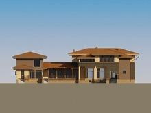 Проект жилого коттеджа с удобной планировкой и бассейном внутри