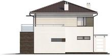 Проект двухэтажного дома с удобной террасой над гаражом
