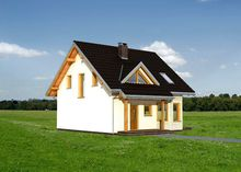 Проект элегантной загородной усадьбы с эркером, балконом и небольшой террасой