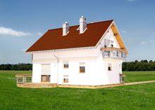 Мансардный дом с эркером 8м на 10м