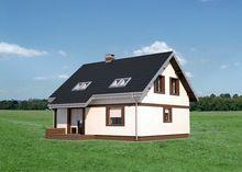 Симпатичный дом с мансардным этажом