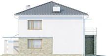 Проект двухэтажного дома с балконом над гаражом