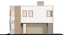 Двухэтажный дом в стиле модерн с террасой над гаражом