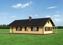 Современное одноэтажное строение с просторной гостиной