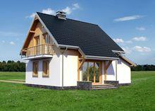 Проект небольшого загородного коттеджа площадью 110 m²