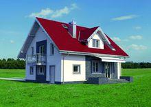 Проект красивого дома с симпатичной верандой