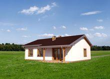Одноэтажный дом с отдельно выделенной гостиной