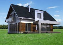 Изящный дом на два этажа с просторной верандой