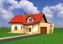 Проект строительства мансардного дома 170 m²