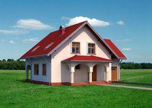 Проект загородной усадьбы с нотками романского стиля