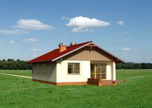 Проект оригинальной загородной усадьбы с площадью 80 m²