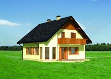 Архитектурный проект красивого коттеджа с площадью 150 m²
