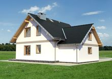 Архитектурный проект небольшого дома с шестью спальнями и гаражом