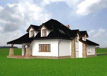 Архитектурный проект загородной усадьбы с оригинальным дизайном