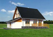 Загородный особняк с небольшим пристроенным гаражом