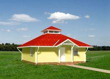 Примечательный проект домика в четырехскатной крышей