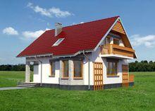Мансардный дом с эркером 9м на 10м