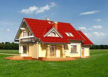 Запоминающийся проект особняка с мансардой площадью до 200 m²