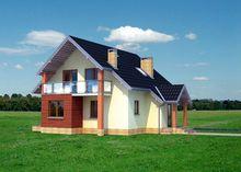 Проект оригинального мансардного коттеджа более 150 m²