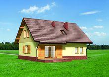 Проект оригинального мансардного коттеджа до 150 m²