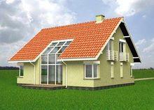 Проект дома с мансардой в традиционном стиле площадью 170 m²