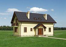 Обаятельный особняк с тремя деревянными балконами